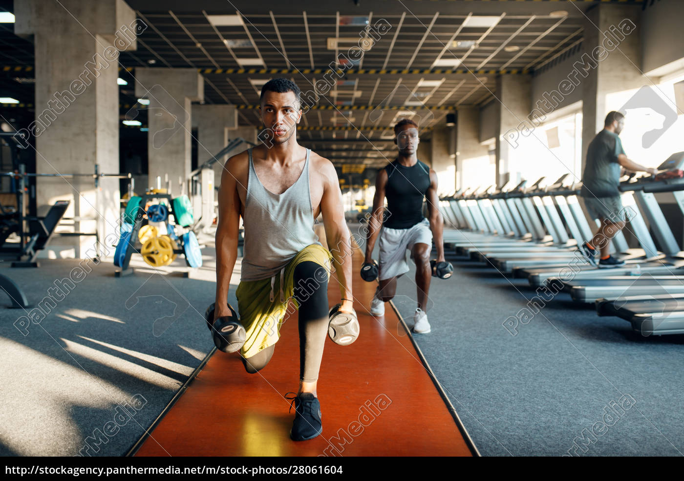 two, male, persons, doing, exercise, with - 28061604