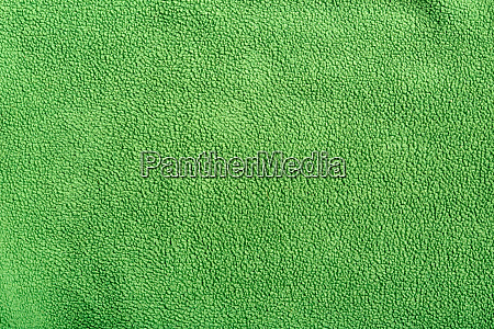 green soft synthetic fleece