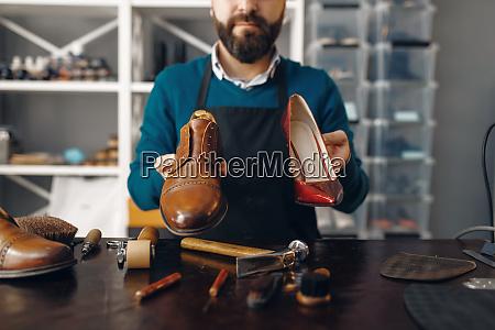 bootmaker shows repaired shoes footwear repair