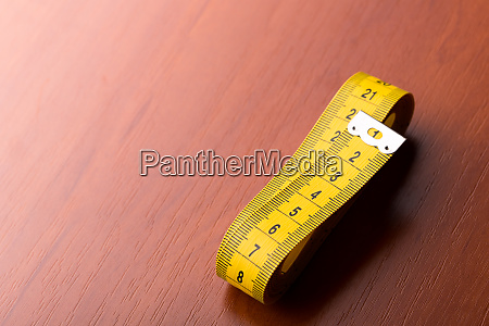 yellow measurement tape