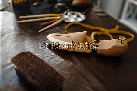 shoemaker occupation footwear repair concept