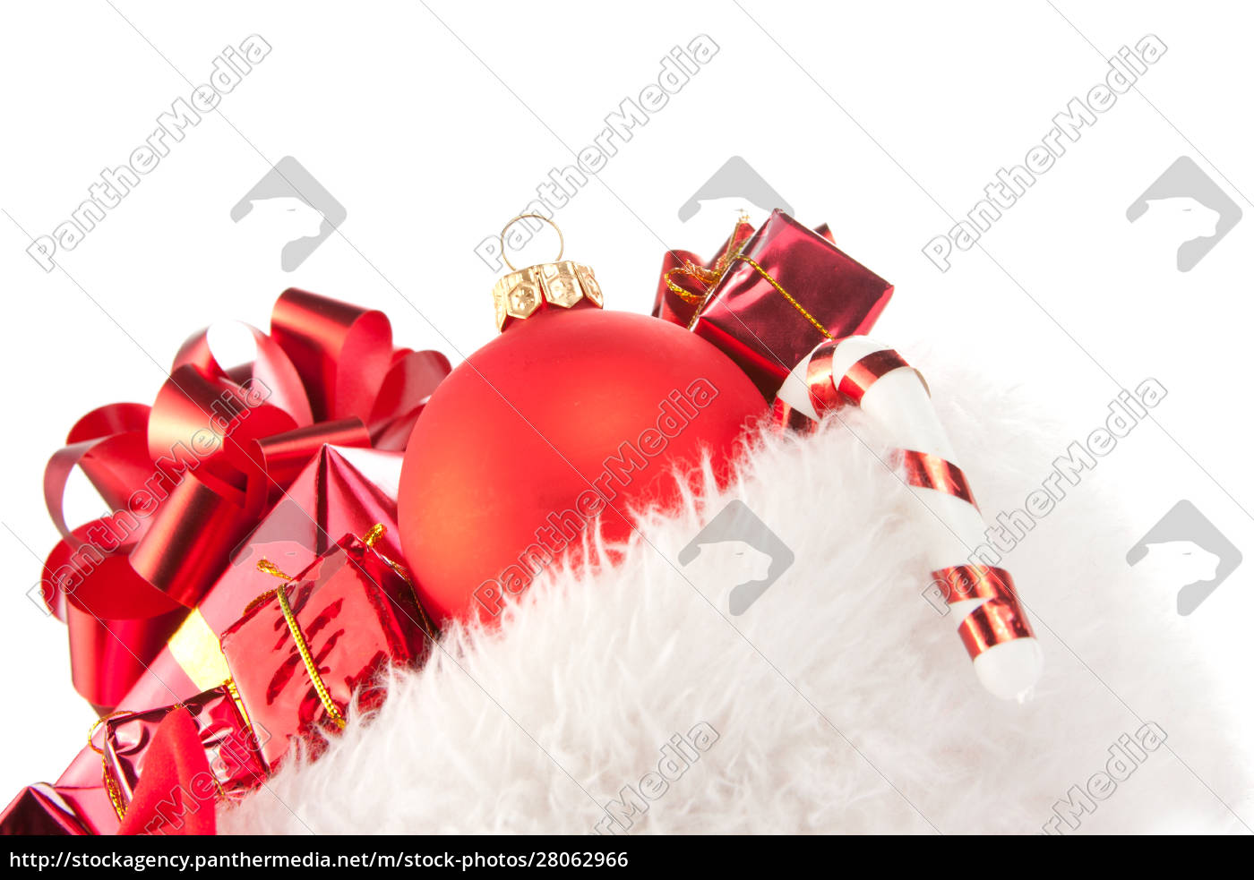 christmas, hat, full, of, red, ornaments - 28062966
