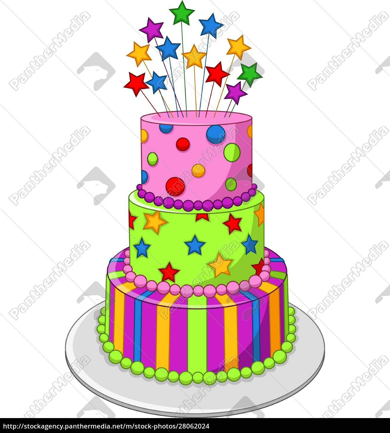 colorful, birthday, cake, isolated, on, white - 28062024