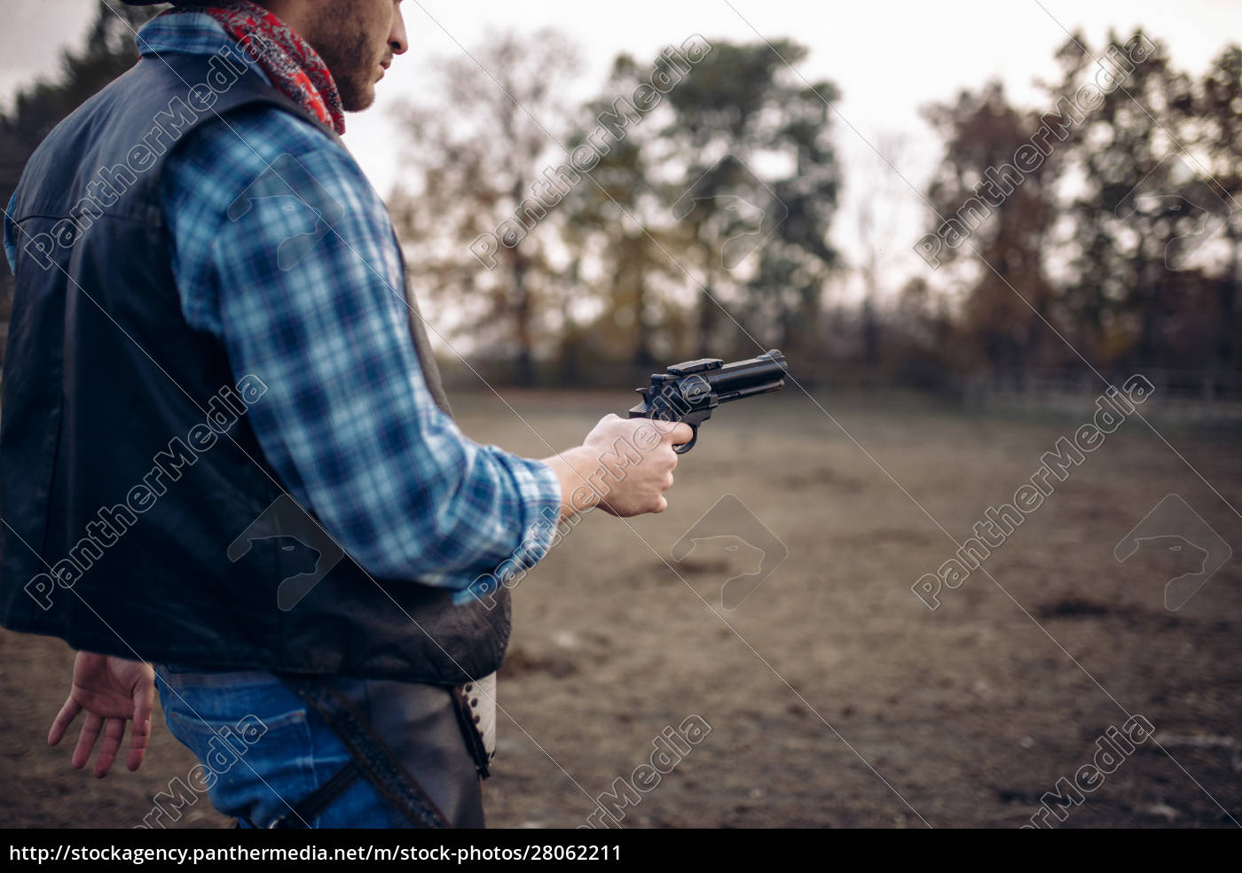 cowboy, with, revolver, , gunfight, on, ranch, - 28062211