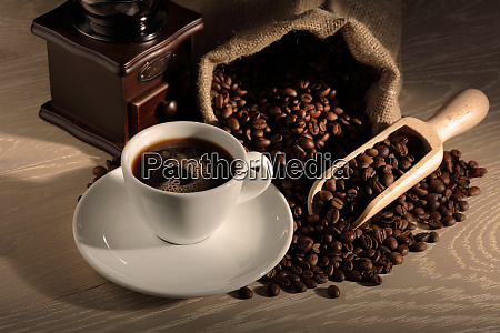 cup, of, coffee, grinder, beans, and - 28062730