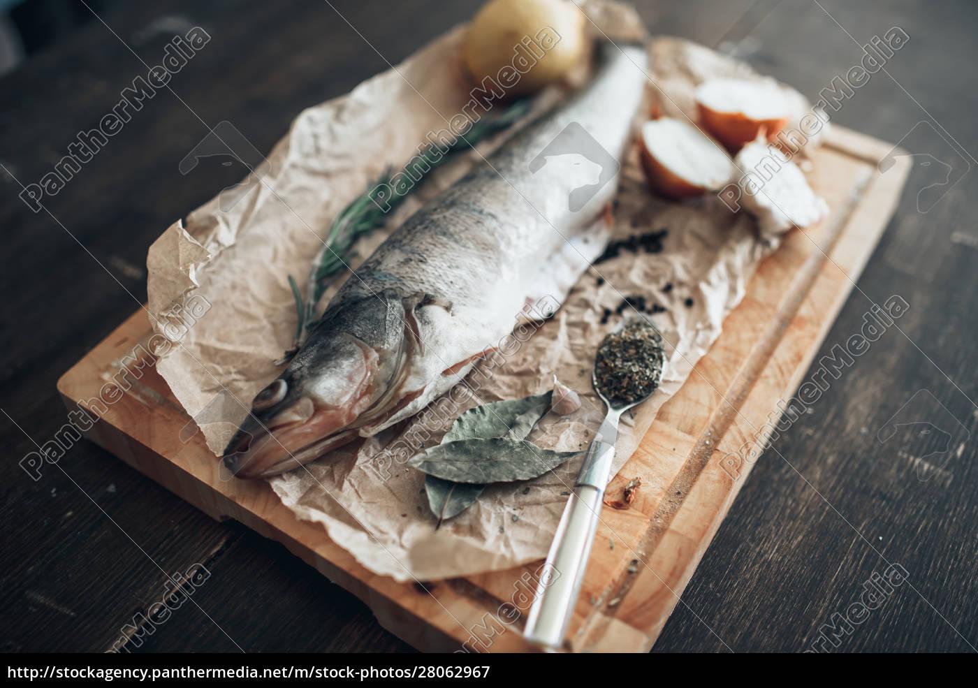 fish, preparation, ingredients, on, cutting, board - 28062967