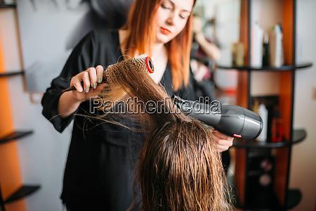 hairdresser, drying, hair, , female, hairdressing - 28062359