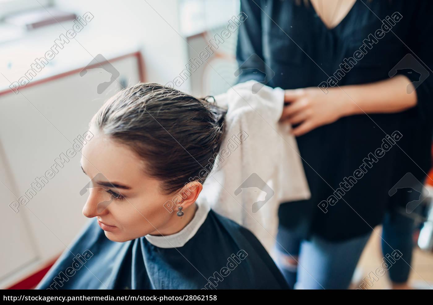 hairdresser, works, with, hair, spray, , hairdressing - 28062158