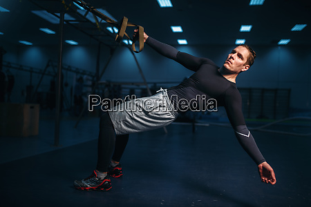 male, athlete, on, training, , stretch, workout - 28062099