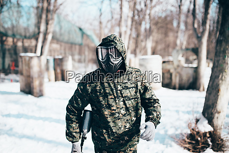male, paintball, player, , military, game, equipment - 28062445