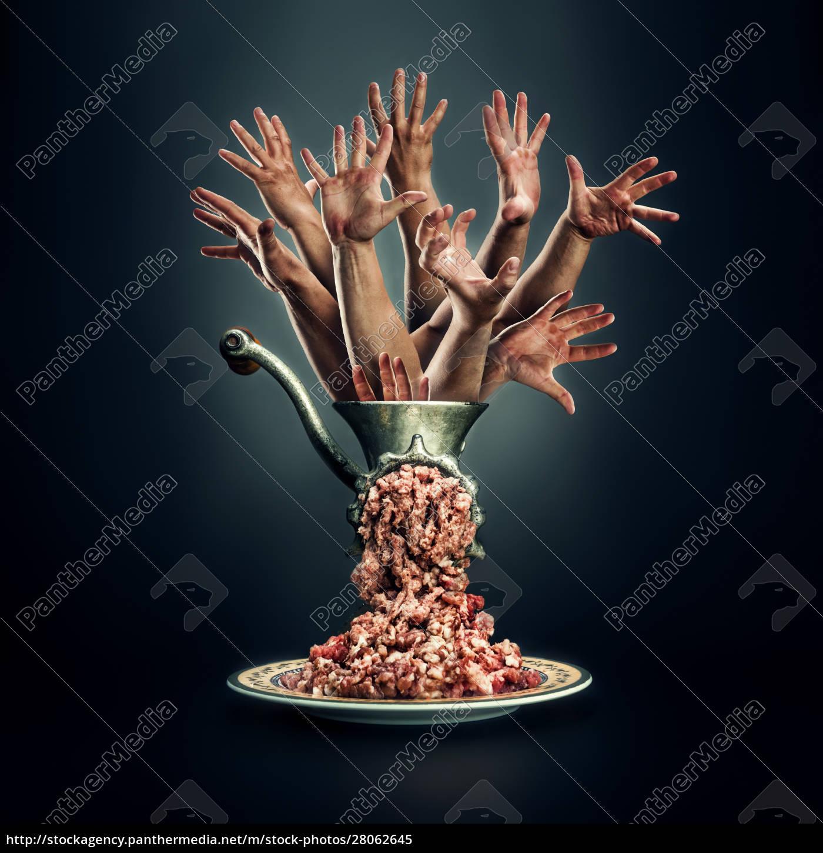 meat, grinder, on, a, black, background - 28062645