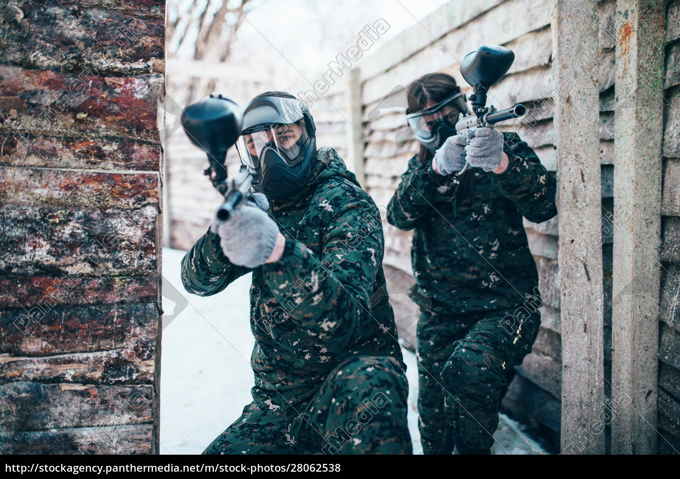 paintball, team, , players, in, winter, battle - 28062538