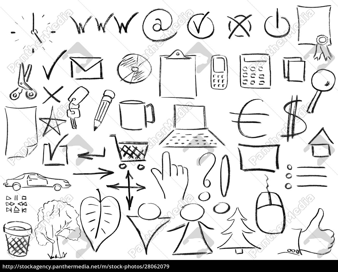 pencil, sketches, of, most, popular, business - 28062079