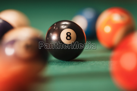 pool, ball, with, number, 8, over - 28062072