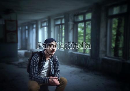 stalker, , traveler, on, ruins, of, the - 28062983