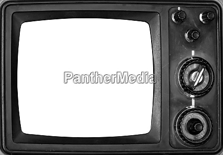 vintage, tv, with, isolated, screen - 28062391