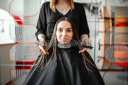 woman, in, hairdressing, salon, , female, stylist - 28062209