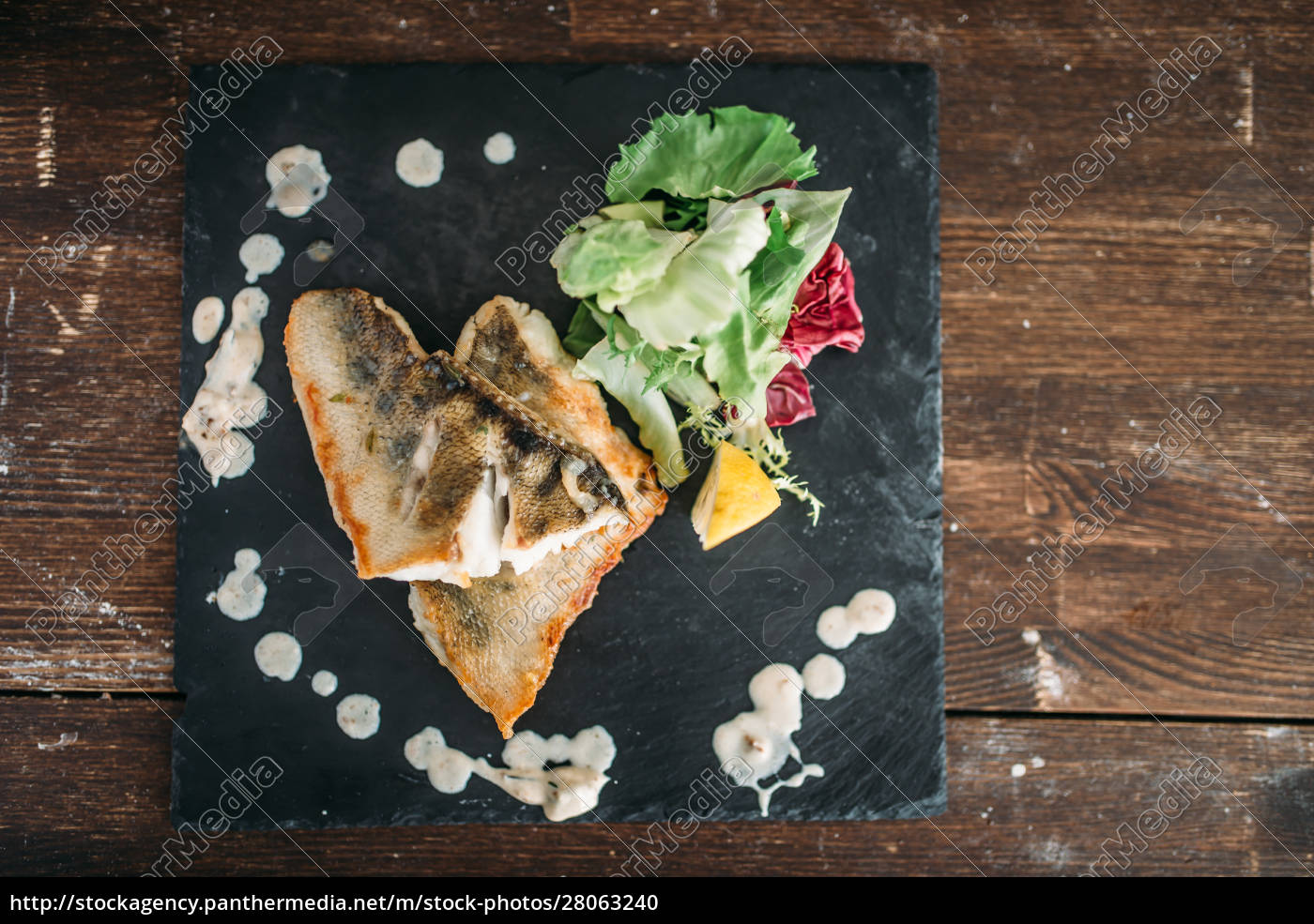 dish, of, fried, fish, decorated, with - 28063240