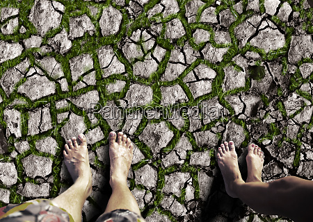 feet, standing, on, the, dry, land - 28063074