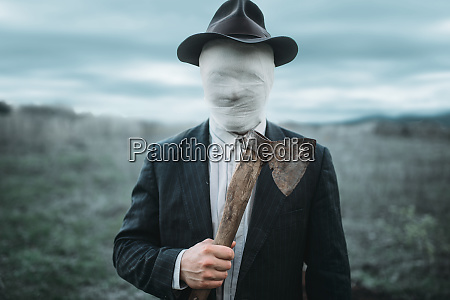serial, murderer, with, axe, in, hands, - 28063260
