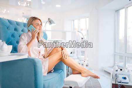 beautician salon manicure and pedicure procedure