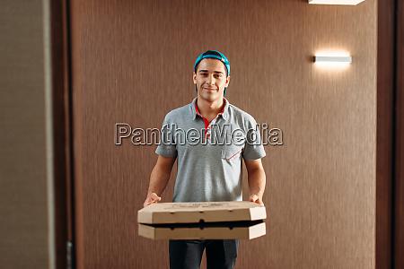 pizza delivery boy delivering service