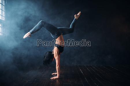 contemp dance gymnastic exercise in studio