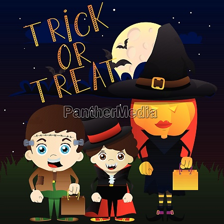 halloween kids trick or treating