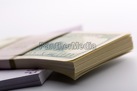 packs of dollars and euros
