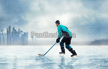 ice hockey player in action on