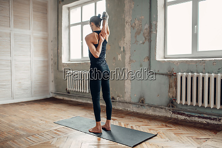 meditation in yogi studio full concentration