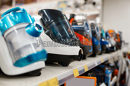 vacuum cleaners in electronics store nobody