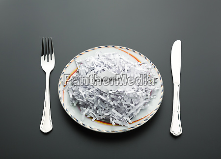heap of shredded papers on the