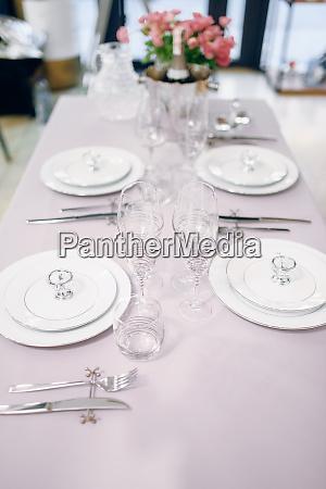 empty tableware table setting nobody