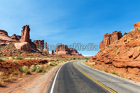 road through arches national park