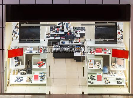 shoe store showcase luxury footwear shop