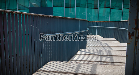 modern public staircase viewed from above