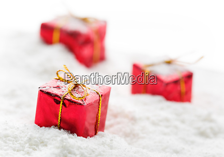 gifts on snow
