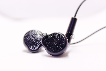 a picture of earphone on white