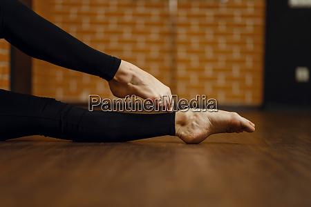 female contemporary dance performer legs