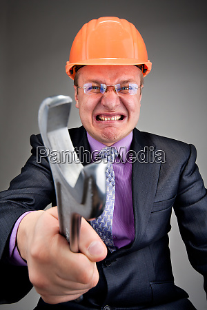angry contractor