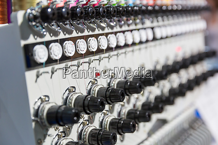professional sewing machine closeup nobody