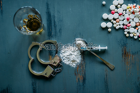 drug user kit narcotics concept addiction