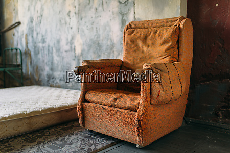 drug addict room grunge armchair and