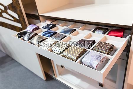 ties in wardrobe