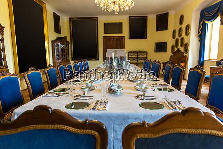 luxury interior of dining room europe