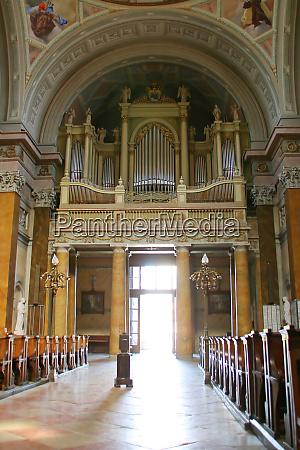 giant organ in old church