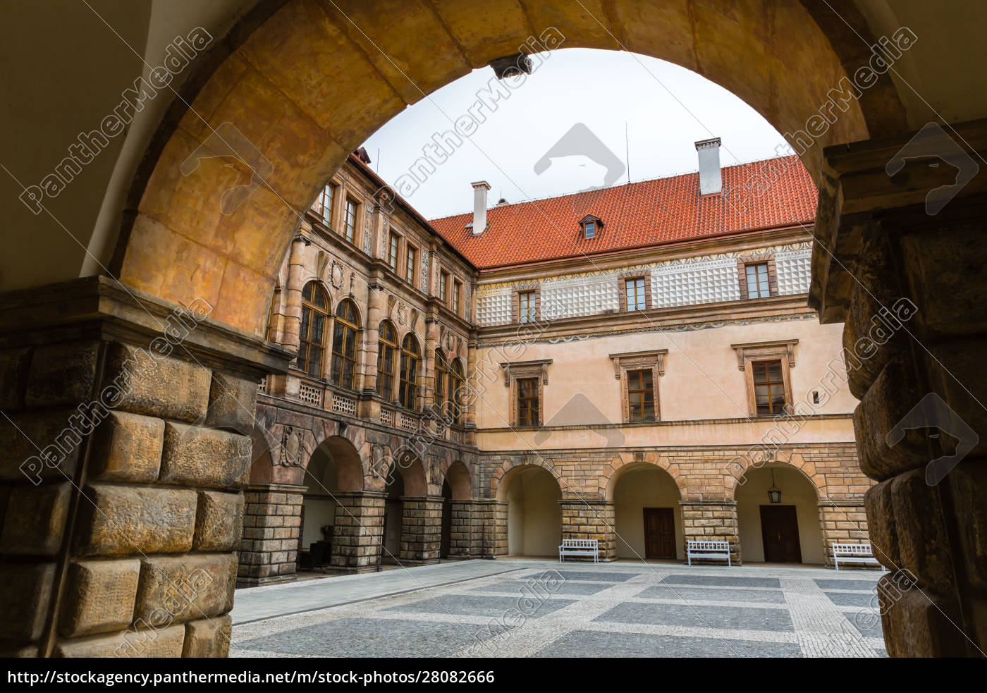 ancient, stone, castle, courtyard, , nobody, , europe - 28082666