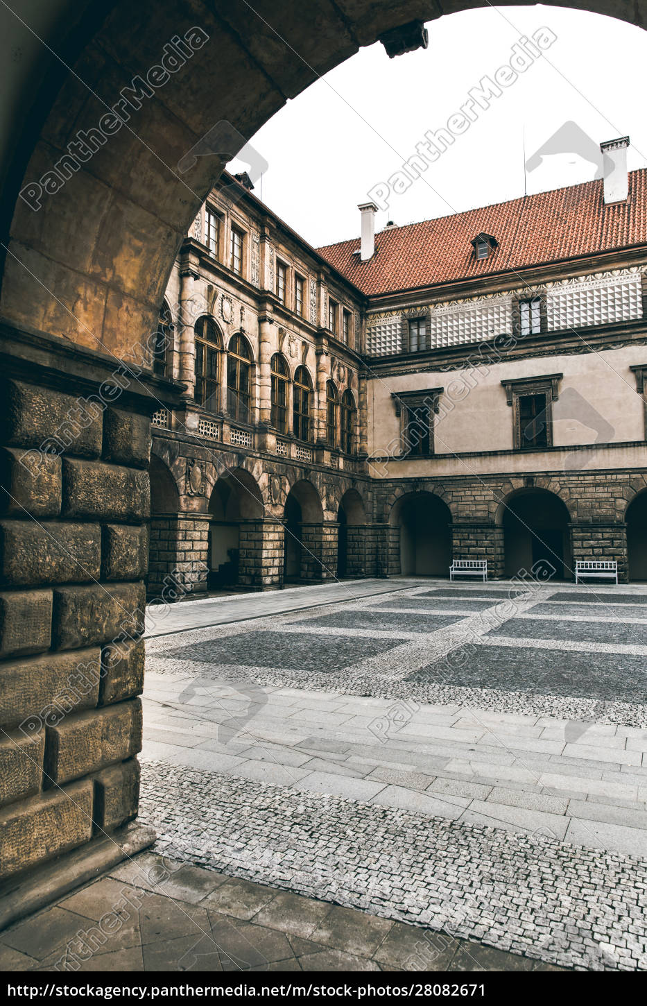 ancient, stone, castle, courtyard, , nobody, , europe - 28082671