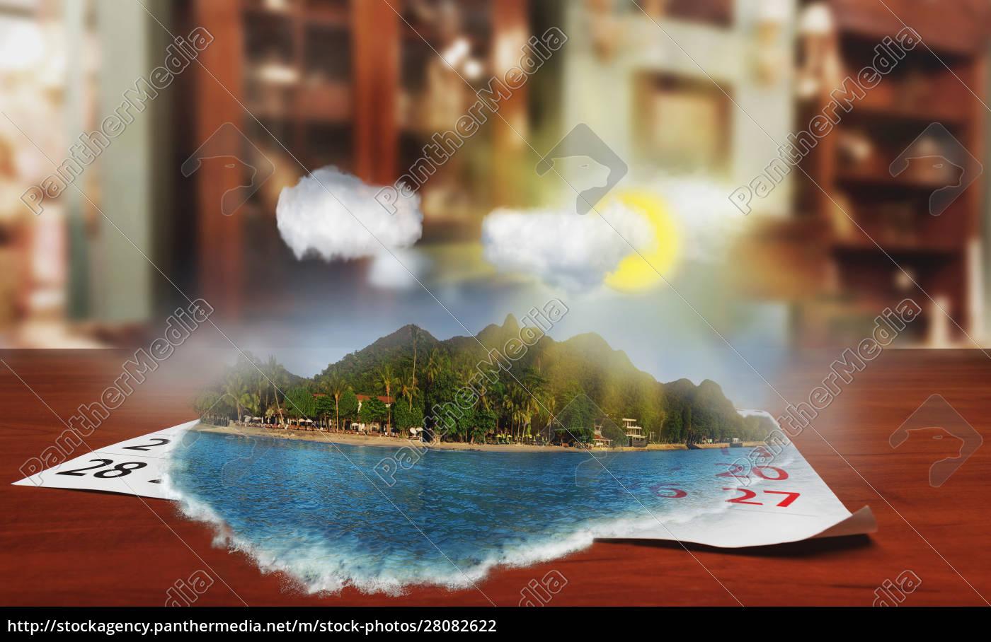 calendar, , with, beautiful, , landscape - 28082622